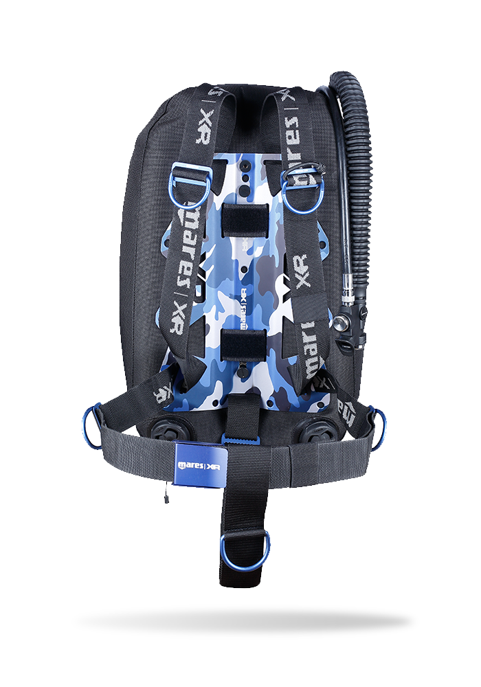 Mares Blue Battle Single Backmount BCD Set